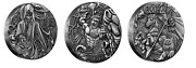 2016 Silver Norse Gods Complete 3 Coin Set Odin/thor/loki