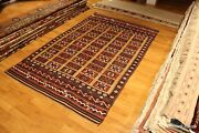 5and039 X 7and039 Caucasian Design Handmade Sumak Rug Circa 1970and039s Southwestern Style