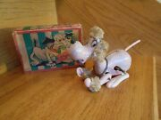 Mechanical Tin Dog Jasper Original Box Very Old Toy Japan Shipping Included