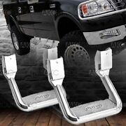 Pair Of Stirrup Style Aluminum Side Steps For Trucks 350 Lbs Capacity