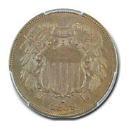1869 2c Two Cent Piece Pcgs Ms63bn Cac
