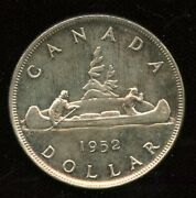 1952 Canada Voyageur Silver Dollar - Nice Mint State Example
