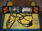 Western Mvp Fisher Ez-v 12-pin Plow Lights And New Harness For Relay-type Wiring