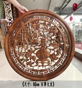 Camphorwood Auspicious Persimmon Tree Wall Hanging Deco Wood Tablet Plaque Board