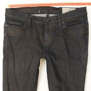Womens All Saints Rose Ashby Stretch Skinny Crops Blue Jeans W28 L26 Size 8