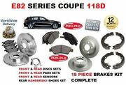 For Bmw 118 2007-2012 Front And Rear Brake Discs Set And Pad Kit And Sensor And Shoes
