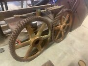 Large Industrial Gears Beautiful Patina For Restraunt Bar Man Cave Etc