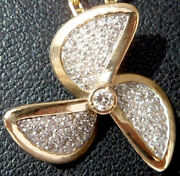 Vintage And039 Propeller And039 Charm / Pendant Gold 18k The 90s 2.50 Gr