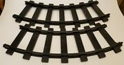 Vintage 1970 Remco 2 Pcs. Curved Train Track For Mighty Casey Ride On Railroad