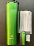 Starbucks Ss Emeral Tumbler 16oz Stainless Steel Coffee Star R Fit Car Hold 2012