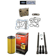Oem Oil Cooler Stand Pipe/dummy Plugs And Oil Filter Kit For 2004-2007 Ford 6.0l
