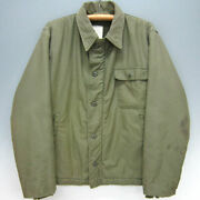 Vintage 74's Us Army Model A-2 Men's Deck Jacket Size L Stenciled Rare Used