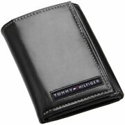 New Cambridge Menand039s Black Leather Trifold Wallet 5676/01 Grade A
