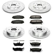 K2804 Powerstop Brake Disc And Pad Kits 4-wheel Set Front And Rear New For Armada