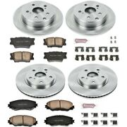 Koe4100 Powerstop 4-wheel Set Brake Disc And Pad Kits Front And Rear New For Rav4