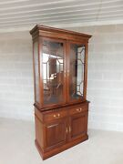 Stickley Cherry Valley Chippendale Style Lighted Cabinet 40w