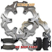 Front + Rear Quality Brake Disc Rotors + Pads For Suzuki Dr650 S/se 1996-2020