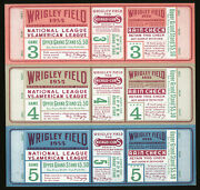1935 World Series Ticket Sheet Games 3/4/5 Chicago Cubs Wrigley Field Nm