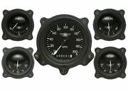 Moal Bomber Series Five Gauge Set With Bomber Bezels - Classic Instruments - Ma0