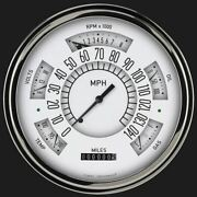 White 1949-50 Chevy Classiclineandnbspgauge - Classic Instruments - Ch49w