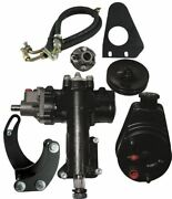 Borgeson Power Steering Conversion Kit - 55-57 Chevy W/ 1dd Column And Sbc/lwp