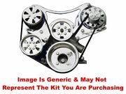 Vips - Turbo Trac Serpentine System - Sb Ford - Polished W/ Power Steering