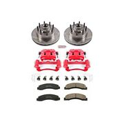 Kc1893 Powerstop 2-wheel Set Brake Disc And Caliper Kits Front For F250 Truck