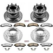 K2868-36 Powerstop 4-wheel Set Brake Disc And Pad Kits Front And Rear New For Ford