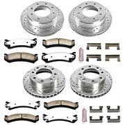 K2023-36 Powerstop 4-wheel Set Brake Disc And Pad Kits Front And Rear New For H2
