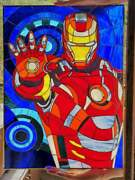 Stained Glass Pictures On Wall Iron Man Stained Glass Comics Window, Movie Wall