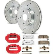 Kc4583-26 Powerstop 2-wheel Set Brake Disc And Caliper Kits Rear For 300 Charger