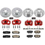 Kc2822 Powerstop Brake Disc And Caliper Kits 4-wheel Set Front And Rear For Camry