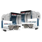 Esk5798 Powerstop Brake Disc And Pad Kits 4-wheel Set Front And Rear New For Vw