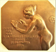 France-1899-samf Official Medal - Bronze Plaque By Charpentier -stamped F