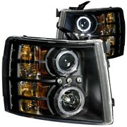 111107 Anzo Headlight Lamp Driver And Passenger Side New For Chevy Lh Rh Chevrolet