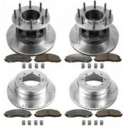 K6822-36 Powerstop 4-wheel Set Brake Disc And Pad Kits Front And Rear New For Ford