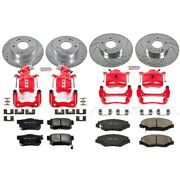 Kc1047 Powerstop 4-wheel Set Brake Disc And Caliper Kits Front And Rear Coupe