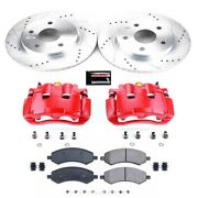 Kc2163a Powerstop 2-wheel Set Brake Disc And Caliper Kits Front For Ram Truck