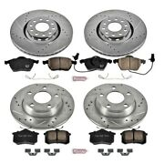 K639 Powerstop Brake Disc And Pad Kits 4-wheel Set Front And Rear New For Audi