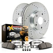 K1970-36 Powerstop 2-wheel Set Brake Disc And Pad Kits Front New For Chevy Tahoe