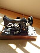 Antique Singer Bz9-8 Electric Sewing Machine W/ Light, Foot Pedal And Case