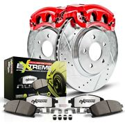 Kc1482-26 Powerstop 2-wheel Set Brake Disc And Caliper Kits Front For Chevy Olds