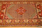 Antique Anatolia Rug 3.6x5 Late 19th Century Tribal Collectable Seige Green