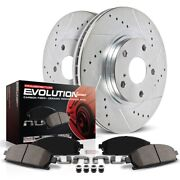 K5099 Powerstop Brake Disc And Pad Kits 2-wheel Set Front New For Lexus Ls400