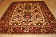 Top Quality 8and039x10and039 Wool Geometric Design Vegetable Dye Hand-woven Oriental Rugs