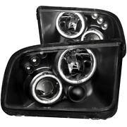 121166 Anzo Headlight Lamp Driver And Passenger Side New Coupe Lh Rh For Mustang