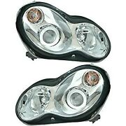 121239 Anzo Headlight Lamp Driver And Passenger Side New For Mercedes C Class