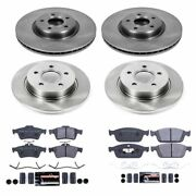 Tdsk6350 Powerstop Brake Disc And Pad Kits 4-wheel Set Front And Rear New For Ford