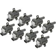 Set-delgn10119-8 Delphi Set Of 8 Ignition Coils New For Chevy Avalanche Suburban