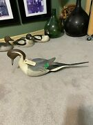 Vintage Duck Decoy Carving By Master Carver Alcide Leroux Pintail